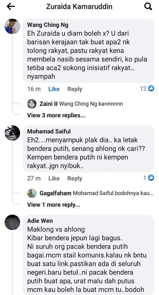 Zuraida Kena Balun Dengan Netizen