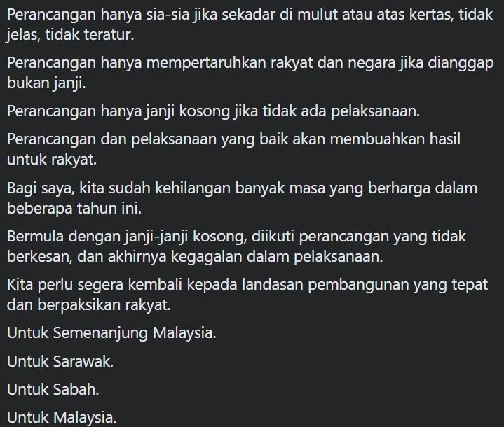 Petikan tulisan Najib Razak