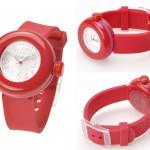 お菓子のようなピンクの腕時計(ピエールエルメデザイン)