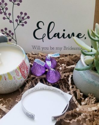 Personalized Bridesmaid proposal gift set, will you be my bridesmaid, live succulent, maid of honor proposal, asking bridesmaid gift box