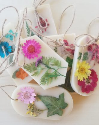 Add On Scented soy wax sachet. Botanical wax tablet, air freshener, aromatherapy floral sachet, potpourri dried flower sachet, wellness gift