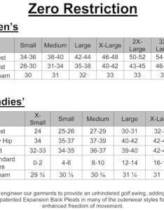 Mens zero restriction size chart also the stewart polo rh mygolfshop