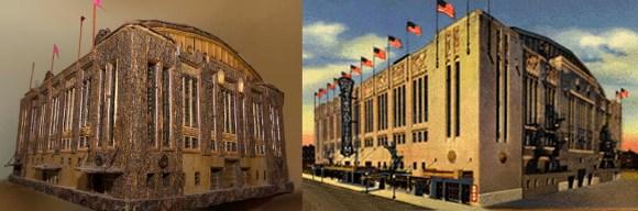 PHOTO: Chicago Stadium & botanical scale model.