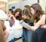 PHOTO: Bureau of Land Management interns at work in the labs.