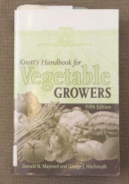 PHOTO: Book cover of Knott's Handbook for Vegetable Growers.