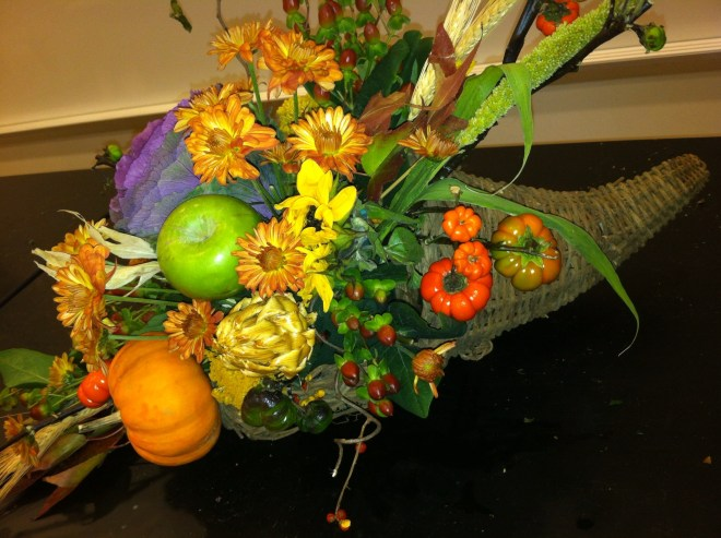 PHOTO: a finished cornucopia.