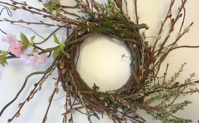 So Classy: Spring Wreaths Made from Flowering Branches