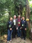 Garden researchers Fabiany Herrera, Patrick Herendeen, Greg Mueller, and Chen Ning