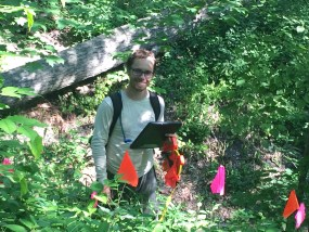 PHOTO: Plants of Concern foray leader Jason Miller: a man of ultimate patience.