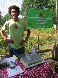PHOTO: Green Youth Farm alum/intern Joe Young.