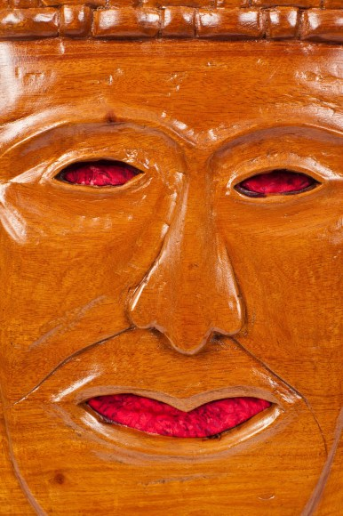 """PHOTO: """"Face of Time"""" mask."""