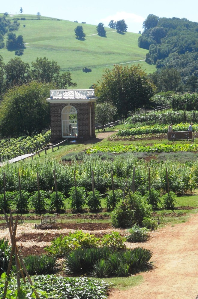 PHOTO: View of the vegetable garden at Monticello.
