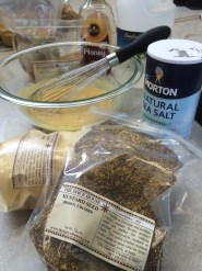 PHOTO: The ingredients for a basic, homemade mustard.