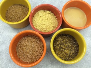 PHOTO: Mustard powders and seeds.