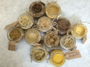 PHOTO: Uncapped mustard varieties showing different flavors, colors, and textures.