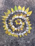 PHOTO: British sculptor, photographer, and environmentalist Andy Goldsworthy inspired this nature art at Camp CBG.
