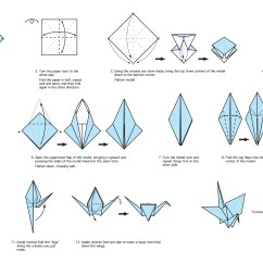 Origami Paper Crane Diagram Ethernet Cat5e Cable Wiring My Chicago Botanic Garden Download These Instructions To Create An