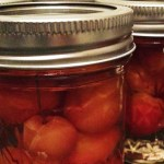 PHOTO: Pickled crabapples in a Ball jar.