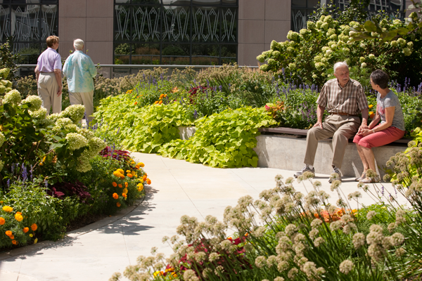 The benefits of outdoor spaces for the elderly my for Old age home landscape design