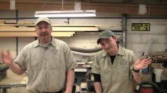 PHOTO: Chicago Botanic Garden carpenters Andy Swets and Brian Flood.