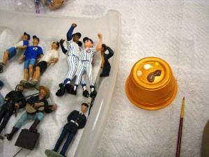 PHOTO: Miniature Chicago Cubs fans.