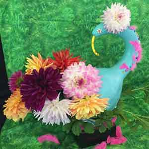 Formal dahlia arrangment