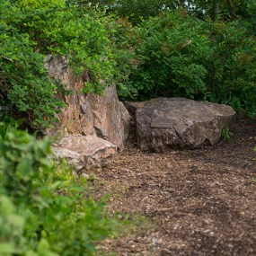 PHOTO: Sitting boulders at Evening Island.