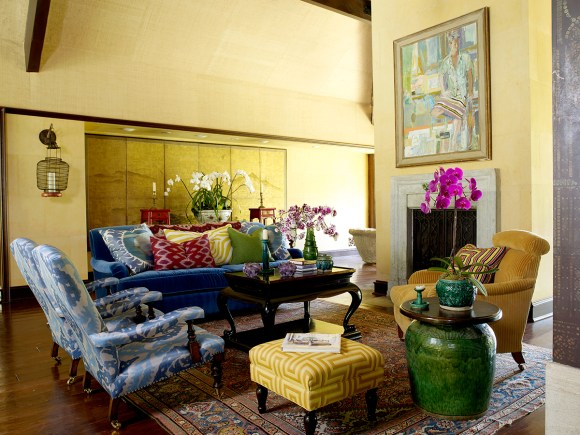 PHOTO: Bold yellow interior design by Martyn Lawrence Bullard.
