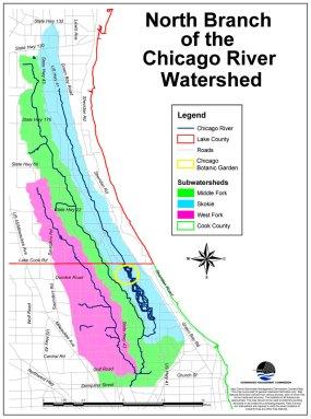 Skokie River watershed map