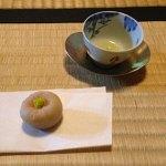 PHOTO: tea and a small treat.