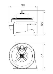 Fiamm 12v Car Air Horn Compact Snail Type High Note 107dB