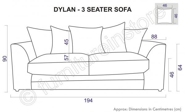 stylish affordable sofas uk custom sofa cushions online dylan 3 seater in caramel, jumbo cord fabric ...