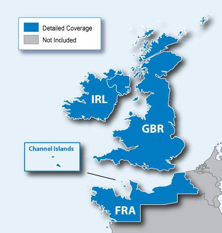 英國 愛爾蘭地圖卡 | nüvi® 1350 | 產品資訊 | Garmin | 臺灣 | 官方網站