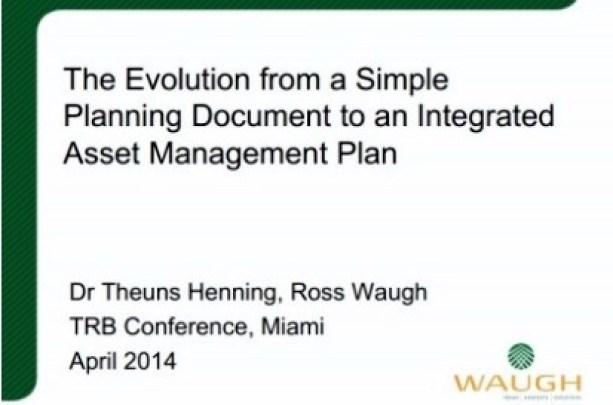 TRB 10th National Conference on Transportation Asset Management