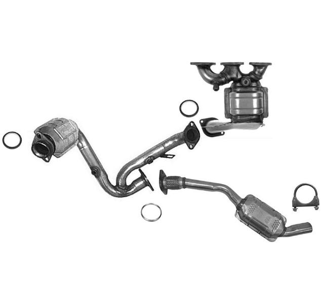 Front & Rear & Manifold Catalytic Converter 2000-2004