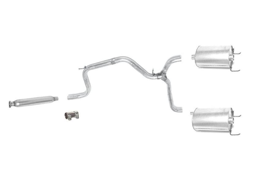 1997-2002 Grand Prix Dual Exhaust Muffler System 3.8L V6