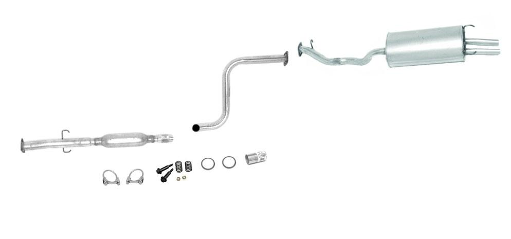 honda accord parts diagram furnace control board wiring 92-93 ex se muffler exhaust pipe system 608336 797374 | ebay