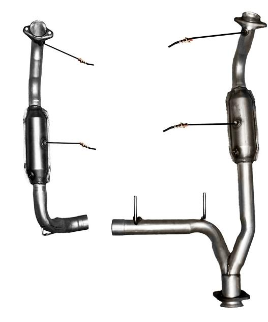 2005-2006 Expedition 5.4L 4X4 Engine Y Pipe With Dual