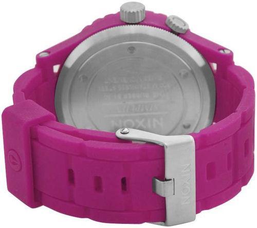 Nixon 51 30 A236644 Shocking Pink Rubber Strap Mens Watch