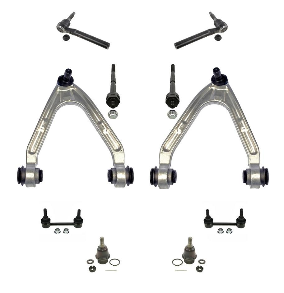 07-10 Hummer H3 10Pc Chassis Kit Upp Arms Low Ball Joints