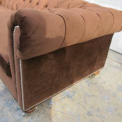Ralph Lauren Home Chesterfield Sofa Henredon Sofas Tufted Chocolate Velvet