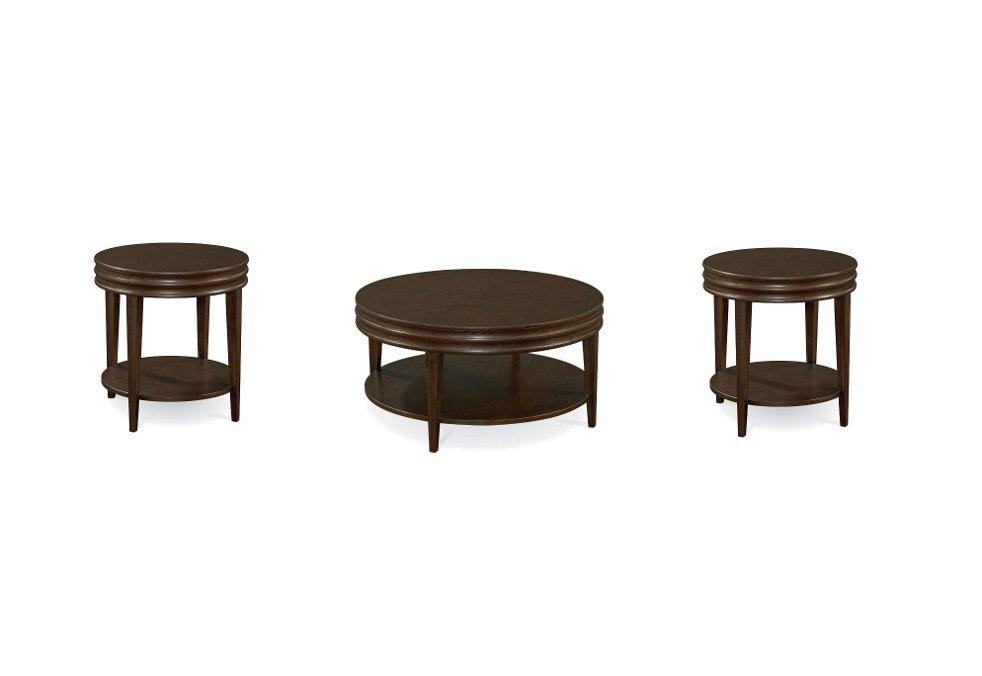 Thomasville Furniture Blueprint Round Cocktail Table Or