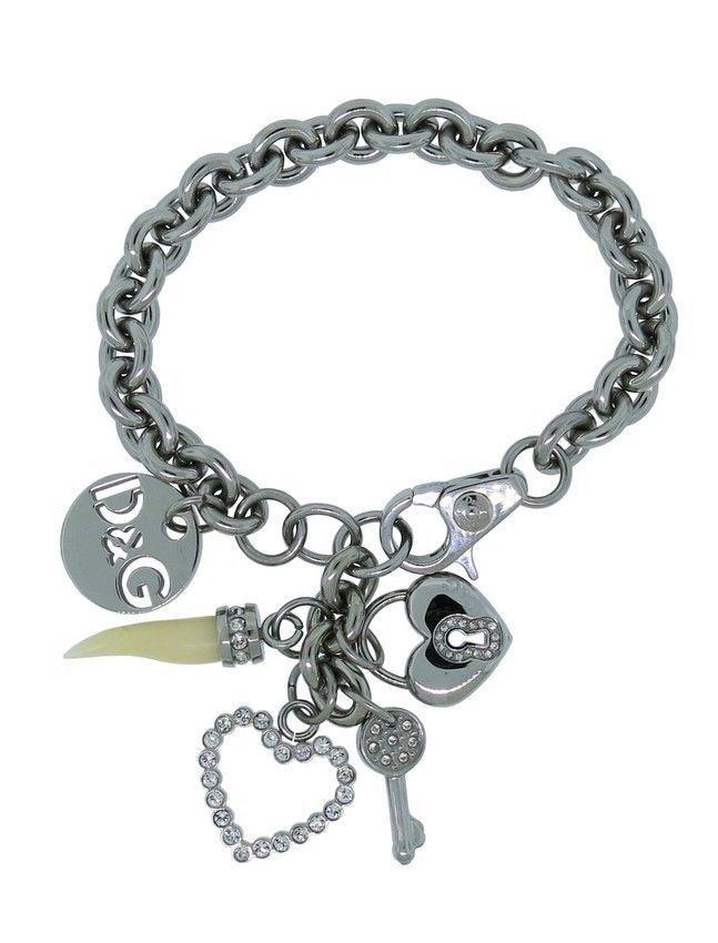 Dolce & Gabbana Jewels DJ0688 Women's Silver Tone Charms