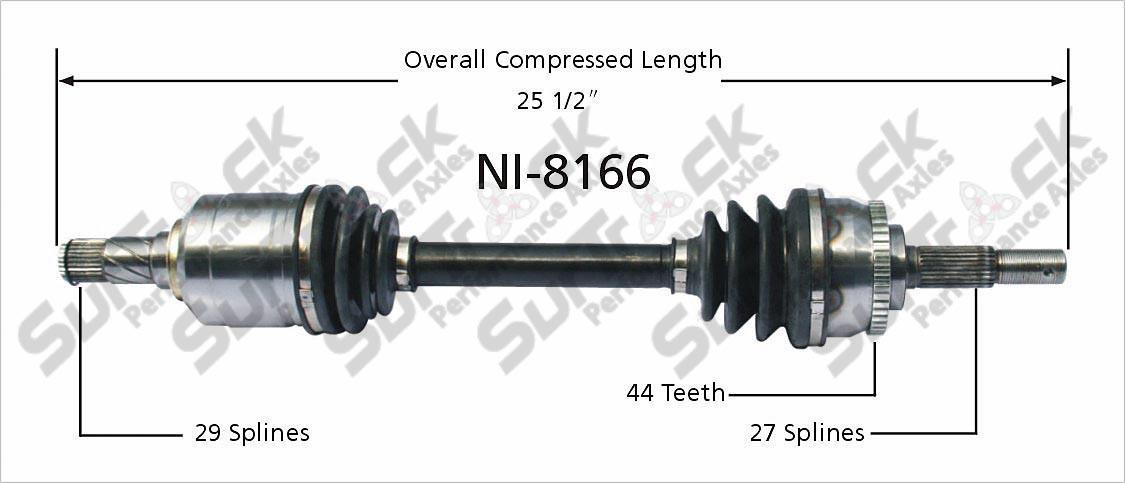 New CV Drive Axle Shaft Fits Nissan Altima 2005 06 Front D