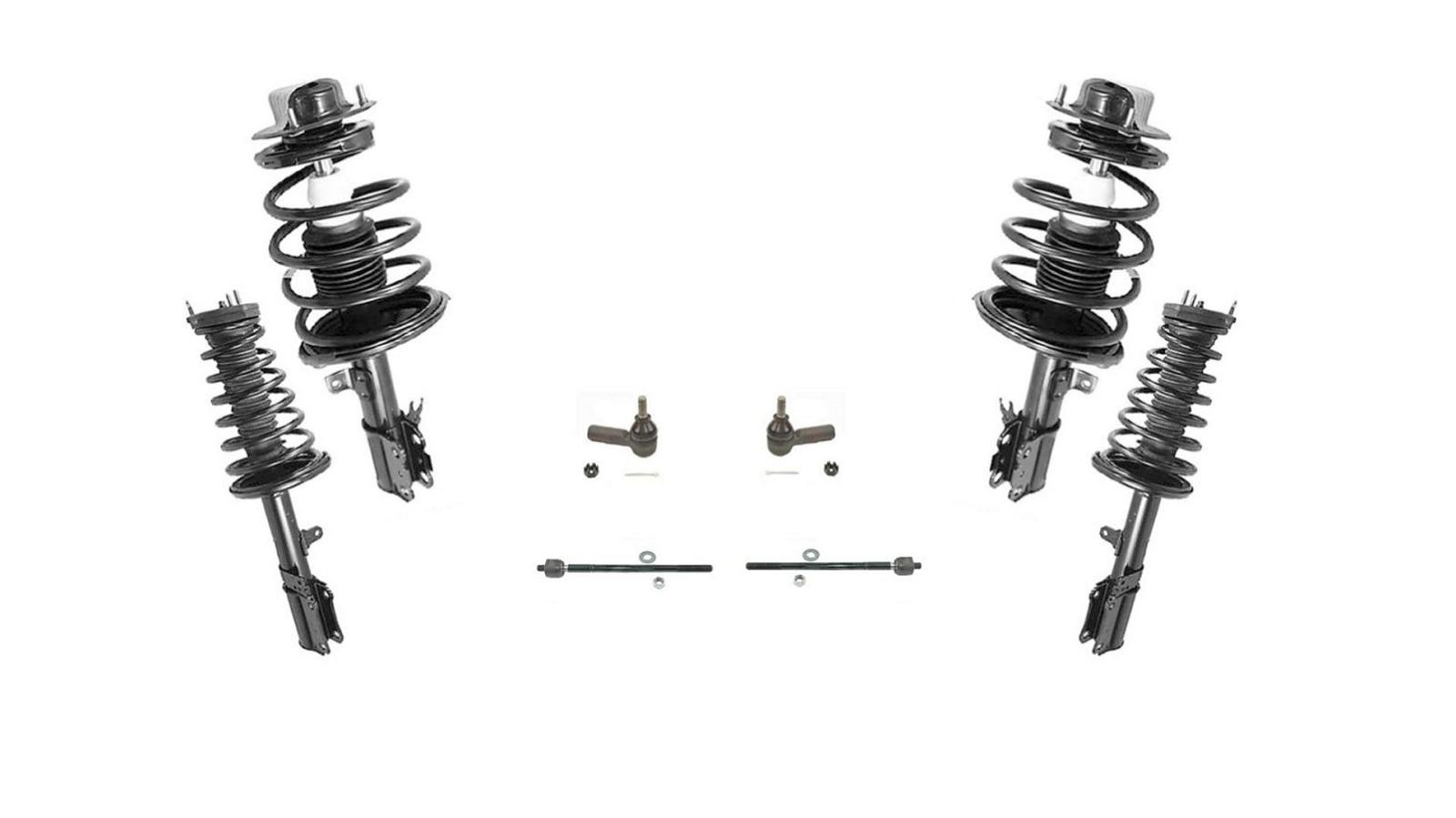 F and R Complete Strut Assembly Inner & Outer Tie Rods 97