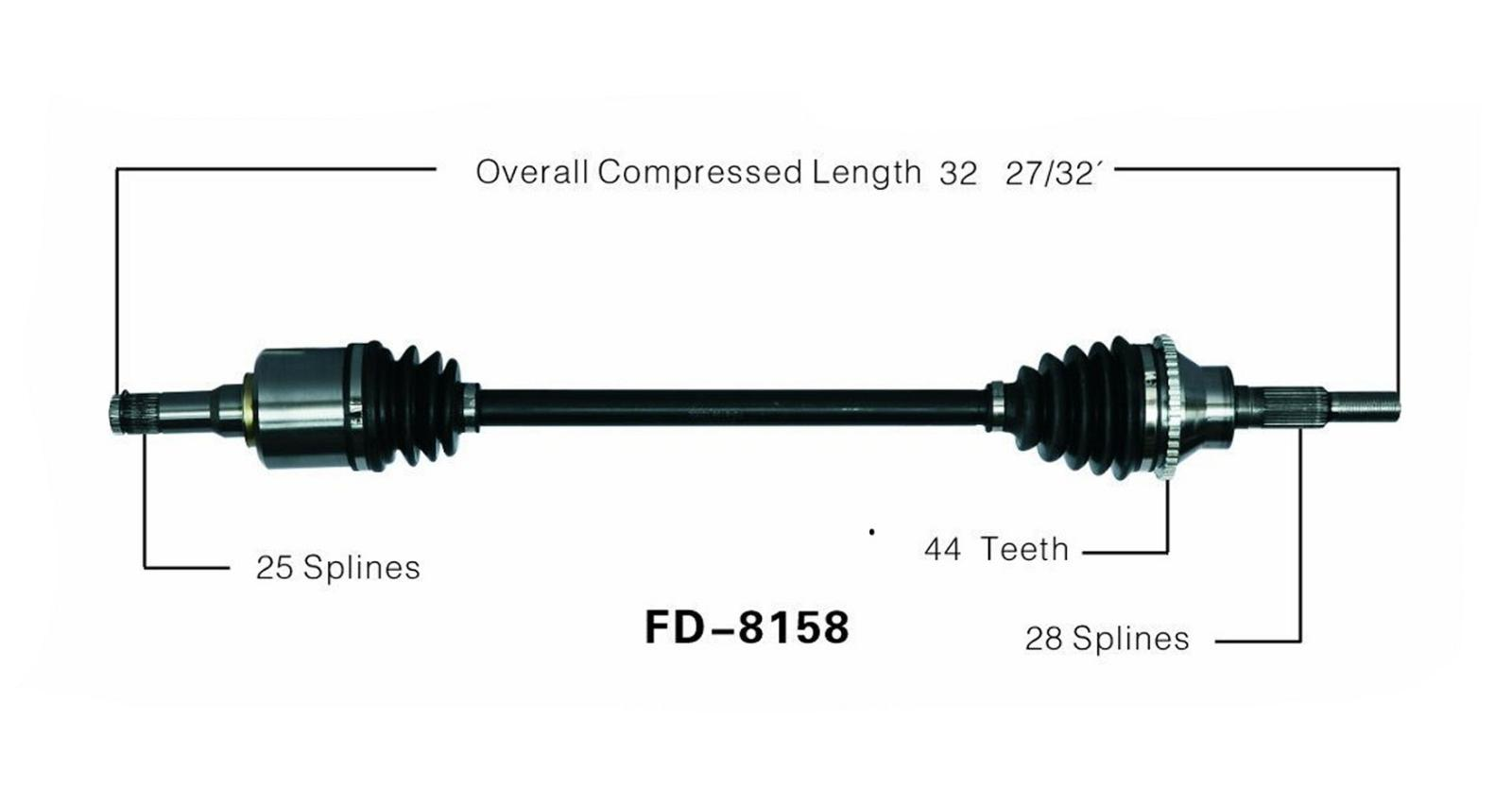 New CV Drive Axle Shaft Fits Ford Edge Lincoln MKX AWD
