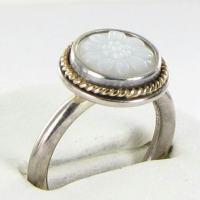 Pandora 190859MOP Ring Daisy Signet MOP 14k Y G 925 Sz 7 ...