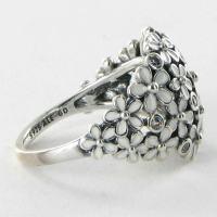 Pandora 190936EN12 Ring Daisy White Enamel Cubic Zirconia ...