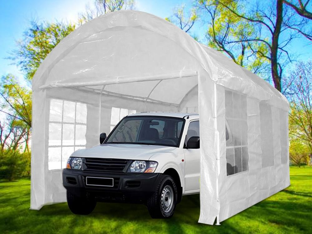 Quictent 20 x10 Heavy Duty Carport Garage Car Shelter