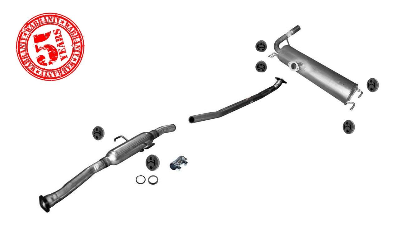 Front Resonator with Extension Pipe & Rear Muffler for